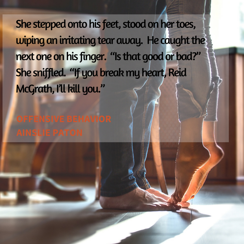 She stepped onto his feet, stood on her (3)